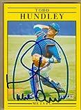 Autograph Warehouse 37687 Todd Hundley Autographed Baseball Card New York Mets 1991 Fleer No. 150 67