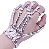 Cathercing Halloween Wristband Skull Fingers Metal