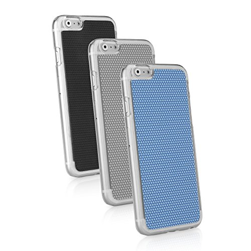 BoxWave iPhone 6Plus Case BoxWave GeckoGrip Apple iPhone 6Plus Schutzhülle–Ultra Low Profile, Slim Fit Snap Klar Shell Cover mit glatten Gummierte Pebble Textur Back Cover–APPLE iPhone 6Plus Fä
