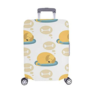 Playing Dogs Characters Spandex Trolley Case Travel Luggage Protector Suitcase Cover 28.5 X 20.5 Inch