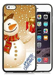 2014 New Style iPhone 6 Plus Case,Christmas snowman Black iPhone 6 Plus 5.5 TPU Case 20