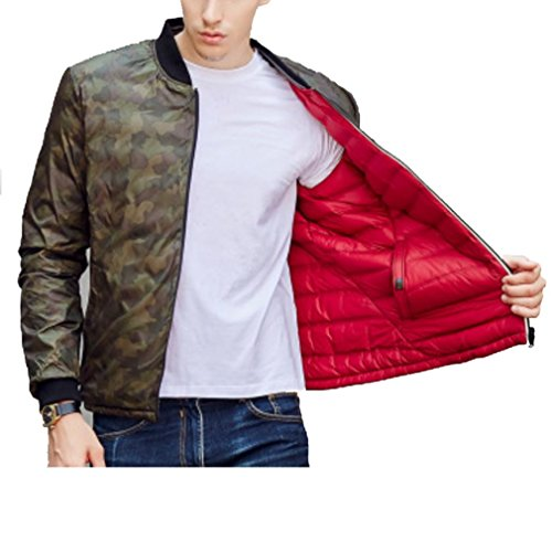Light Down The Stand Collar YANXH thin Wear red Sides Both Coat jacket Men and New XEFqf