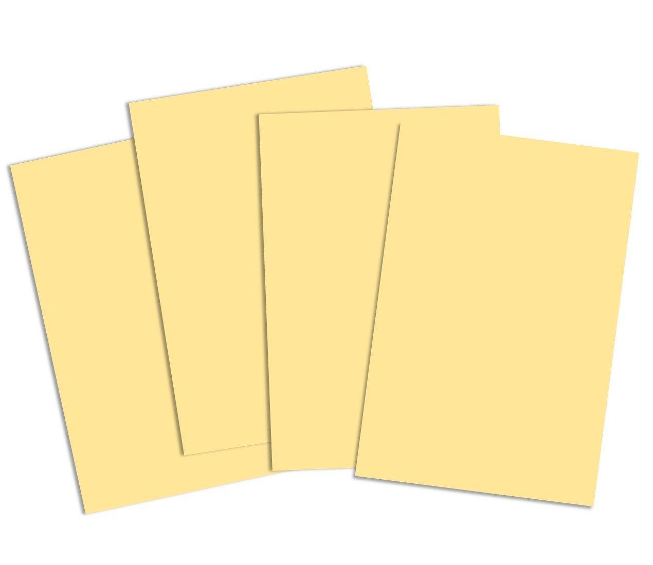 House of Card & Paper, cartoncino colorato in formato A2, 220 g/m² , giallo pastello (confezione da 50 fogli) 220g/m² giallo pastello (confezione da 50fogli) HCP275