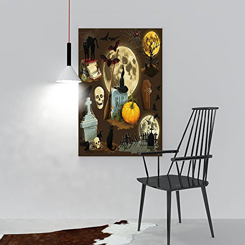 Painting Living Room Decoration Frameless Clip Art s Halloween Celebration Living Room Office Decor Gift W36 x H48 ()