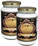 32-oz. glass - 2-Jar Pack - Gold Label Virgin Coconut Oil - 2 quarts Total