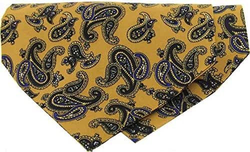 Mustard Paisley Silk Twill Cravat by David Van Hagen