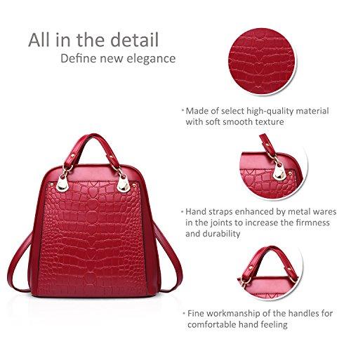 amp;DORIS women bag bag for Claret college ladies students wind use shoulder travel dual NICOLE backpack fashion HqwTFTB
