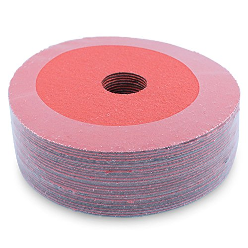 - Black Hawk Ceramic Resin Fiber Grinding & Sanding Discs, 120 Grit, 5-Inch x 7/8-Inch Arbor, Pack of 25