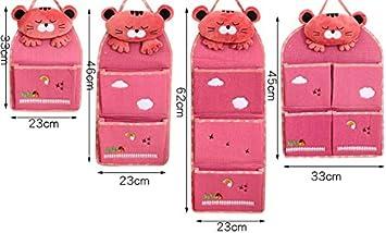 Mirayen Tela Colgar Organizador Pared Colgar Bolsa de Almacenamiento para Colgar Armarios Bolsa de Pared Organizador Colgante Infantil Organizador de Maquillaje de Comestic rosa
