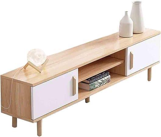 WJHH Muebles para el hogar Mueble de TV de Madera Maciza Estante de Almacenamiento de Estilo nórdico con cajones para Sala de Estar: Amazon.es: Hogar