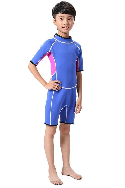 cokar Niños neopreno traje de neopreno traje 2.5 mm Traje Bañador Diving  Suit d45f30351bb