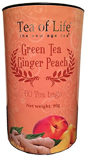 English Tea Shop 60 Tagged Tea Bags (Green Tea Ginger Peach)