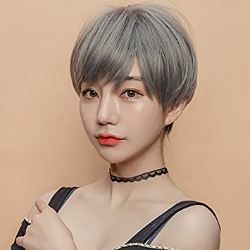 Amazon Com Women Girls Female Short Hair Wig Korean Girls