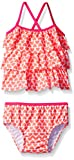 Carter's Baby Girls' Two Piece Ruffle Heart Tankini, Pink, 24 Months