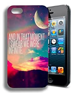We Were Infinite Infinity Cute Inspirational Quote Iphone 5 and 5s Case