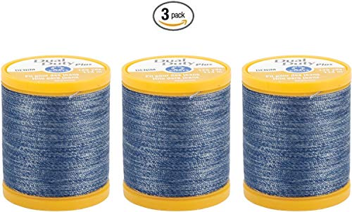 Coats Quilting Clark Machine & (Coats & Clark Inc. Dual Duty Plus Denim Thread, 125-Yard, Denim Blue (3))