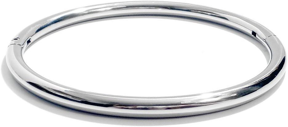"20/"" Bondage Day Collar Eternity Style Large Stainless Steel Neck Restraint"