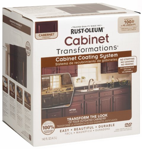 Rust-Oleum 263233 Cabinet Transformations, Small Kit, Cabernet (Cabinet Paint)