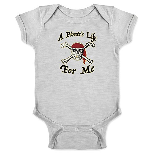 Pop Threads A Pirate's Life for Me Halloween Costume Skull Gray 6M Infant Bodysuit for $<!--$7.50-->