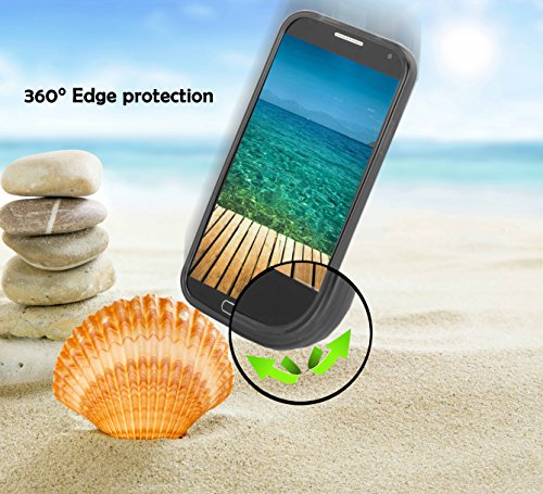 Cadorabo! Cubierta protectora de silicona TPU en diseño S-Line para LG L70 en NEGRO