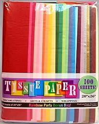 Creative Hobbies Rainbow Color Tissue Paper Bonus Pack, 20\