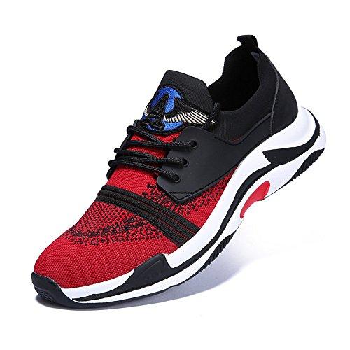 Estate Tessute YIWANGO Red Modelli Singole di Tendenza Nuovi da Sportive Esplosione Casual Battenti Scarpe Scarpe Scarpe di Uomo AUUCqdw