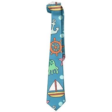 Jxrodekz Moda Ocean Sailing Corbata larga para hombre Corbata ...