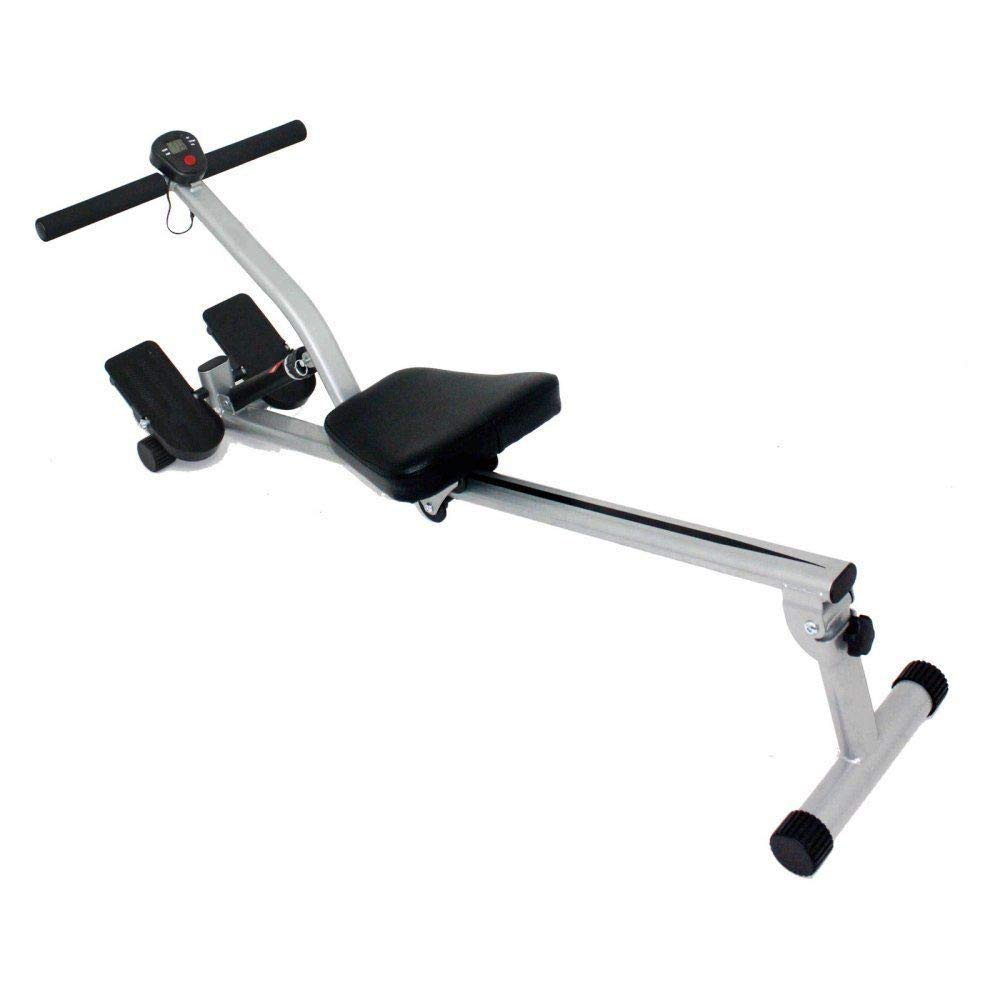 Rowing Machine Fitness Exercise Equipment Great Full Body Workout Cardio Stamina Exercise 12 Levels Adjustable Resistance Adjustable Foot Straps Comfortable Smooth Seat Great Addition To Your Home Gym