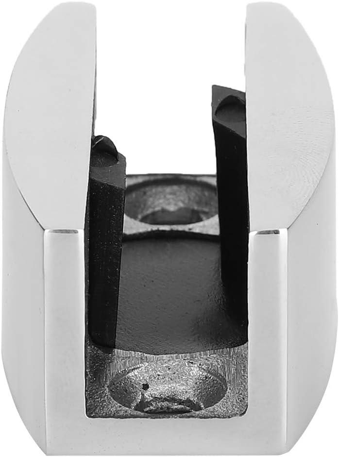 Mantiene la Puerta de Vidrio Alineada 8-14 mm // 0.3-0.6 Pulgadas de Espesor de Vidrio para Montaje Posicionador de Puerta corrediza de Acero Inoxidable Bright Light gu/ía de Rodillo