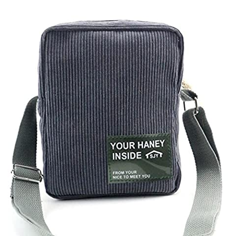 Allywit Women Fashion Handbag Corduroy Shoulder Bag Large Tote Ladies Purse (Gray) - Corduroy Womens Shoulder Bag