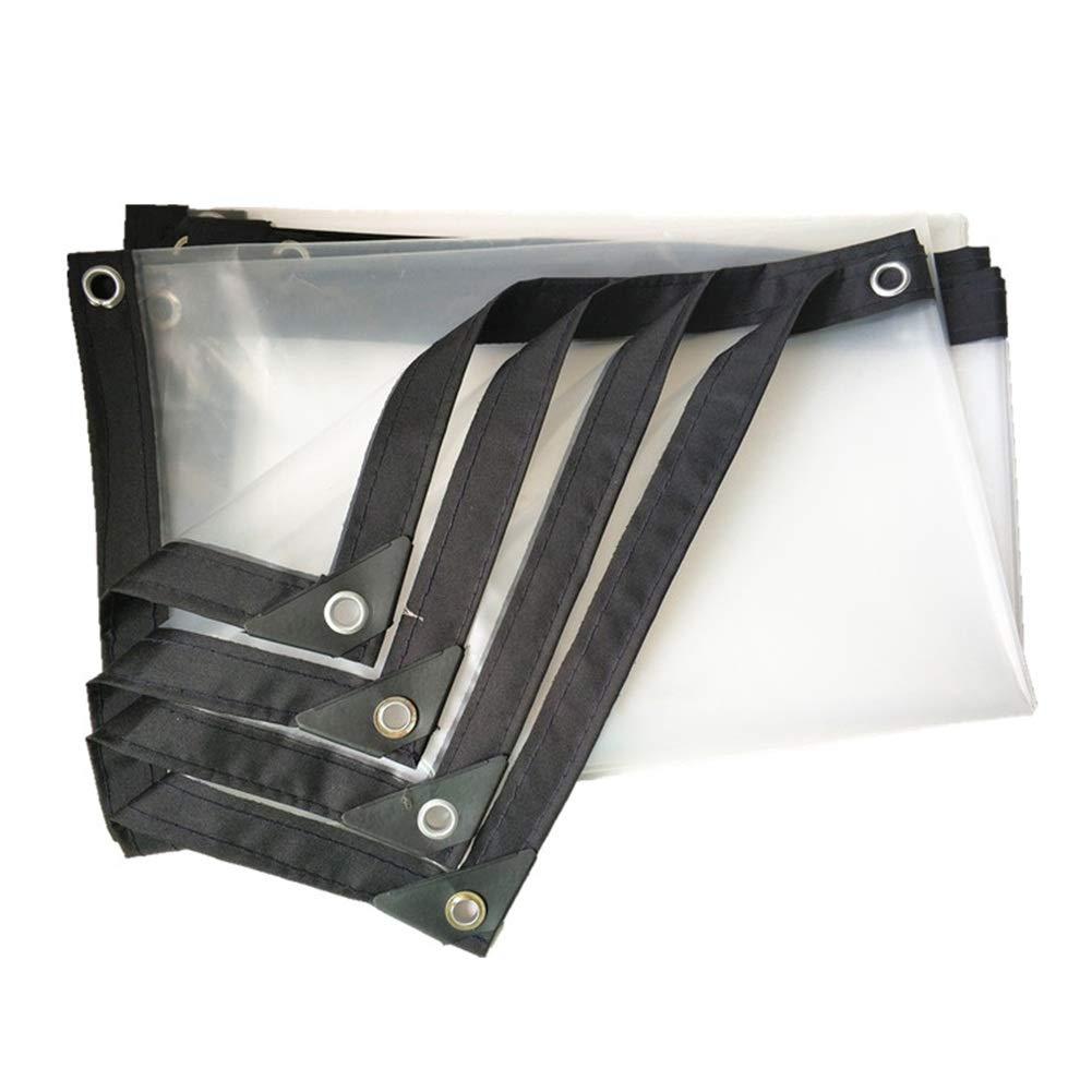 CLEAR 2X5M Fulitanghuang La bÂche épaisse de bÂche de Sol Couvre Les Bords Noirs résistants imperméables de résistance de Larme d'auvent de PE, adaptés aux Besoins du Client