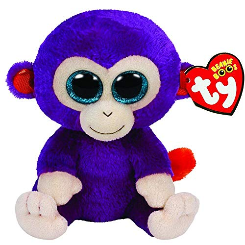 Beanie Boo - Ty Beanie Boos 6 Quot 15cm Grapes The Purple Monkey Plush Regular Big Eyed Stuffed Animal Collection - Saffire Painted Panda Cinder Large Orson Grapes Jelly Turkey Rabbit Guide E