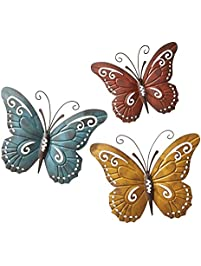 nature inspired metal butterfly decorative wall