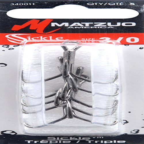 Sickle Matzuo Treble Hook - Matzuo Sickle Treble Hook, Black Chrome, 3/0