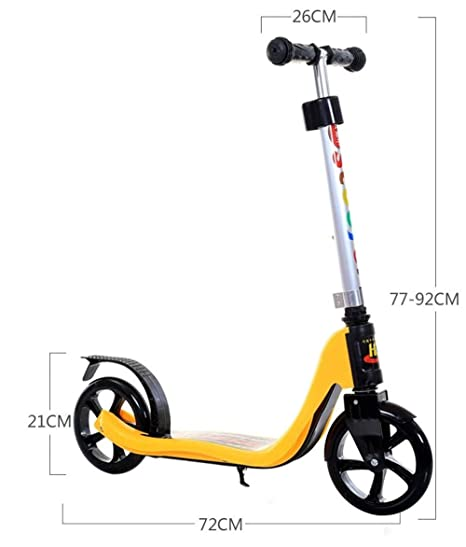 ZHIJINLI Scooter de Dos Ruedas para niños Grandes Scooter Juvenil 6-8-10-