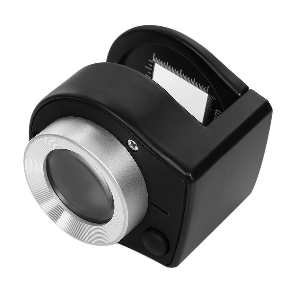 artigianato lente dingrandimento in metallo con scala riparazione e hobby 30 X Lente dingrandimento manuale graduata con doppia luce LED e lampada UV per stampa tessile lettura anziani