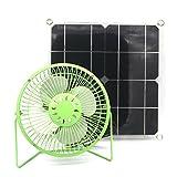 Yingtou Solar Fan 10w Powered Fan Ventilation Caravan Camping Green