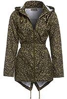 SS7 Damen Leopard Regenmantel, Khaki, Schwarz, Größen eu 36-44