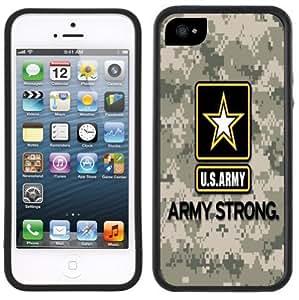 Army Logo USA Camouflage Handmade iPhone 5 5S Black Case