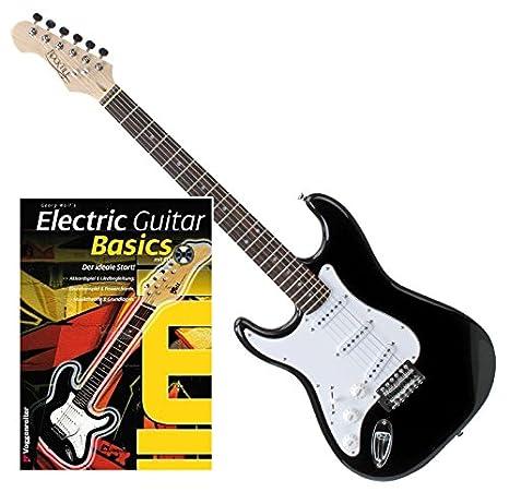 Rocktile Pro st3-bk-l de BK zurdos (pluma) S de guitarra negro + ...