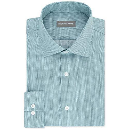 Michael Kors Mens Regular Fit Non-Iron Button-Down Shirt Green