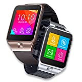 Indigi SWAP2 GSM Touch Screen Bluetooth Camera MP3 Wireless Smart Watch Phone Unlocked! AT&T / T-Mobile (Silver)