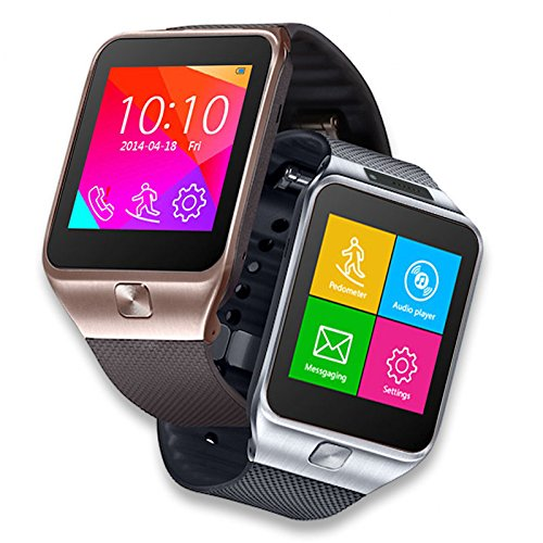 (Indigi SWAP2 GSM Touch Screen Bluetooth Camera MP3 Wireless Smart Watch Phone Unlocked! AT&T / T-Mobile (Silver))