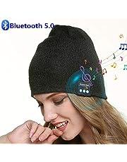 SMINIKER Bluetooth Beanie V5.0 Bluetooth Hat Wireless Bluetooth Knit Cap Hands-Free Headphones Beanie Washable Bluetooth Headphone Hat Gift For Men &Women