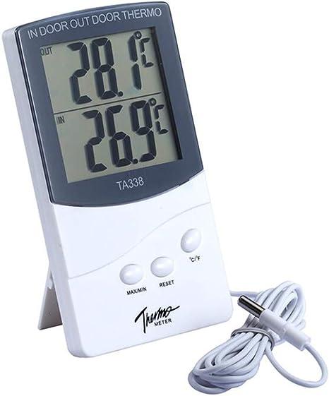 Higrometro Digital Termometro Higrometro Digital Relojes Jardin Hogar Pantalla Doble De Temperatura Interior Y Exterior Termómetro Ambiental De Alta Precisión Multifunción: Amazon.es: Bebé