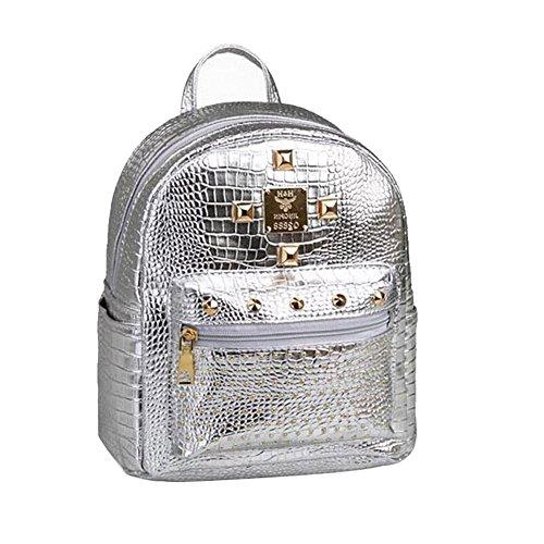 Women Backpack Mini Rivet Backpack Cute Leather Backpack Min