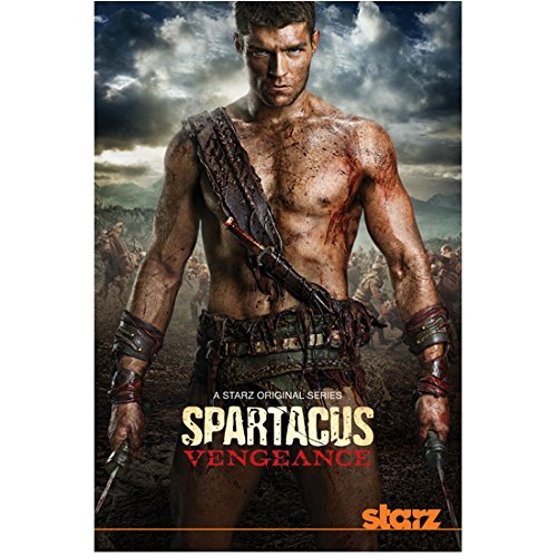 Spartacus: Vengeance 8 inch x 10 inch PHOTOGRAPH Liam McIntyre Holding Swords Down at Sides Starz Poster kn