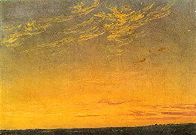 Evening c by Caspar David Friedrich. 100% Hand Painted. Oil On Canvas. Reproduction. (Unframed and Unstretched).