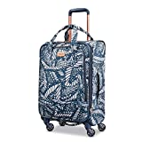 American Tourister Belle Voyage Spinner 21 Carry-On Luggage, Floral Indigo Sand