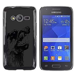 Shell-Star Arte & diseño plástico duro Fundas Cover Cubre Hard Case Cover para Samsung Galaxy Ace4 / Galaxy Ace 4 LTE / SM-G313F ( Scary Wolf Dog Snarl )